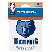Memphis Grizzlies Decal 4x4 Perfect Cut Color