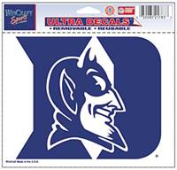 Duke Blue Devils Decal 5x6 Ultra Color