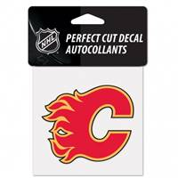 Calgary Flames Decal 4x4 Perfect Cut Color
