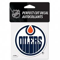 Edmonton Oilers Decal 4x4 Perfect Cut Color