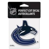 Vancouver Canucks Decal 4x4 Perfect Cut Color