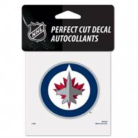 Winnipeg Jets Decal 4x4 Perfect Cut Color - Special Order