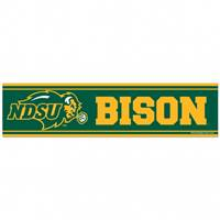 North Dakota State Bison Decal 3x12 Bumper Strip Style - Special Order