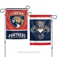 Florida Panthers Flag 12x18 Garden Style 2 Sided - Special Order