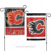 Calgary Flames Flag 12x18 Garden Style 2 Sided - Special Order