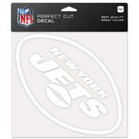 New York Jets Decal 8x8 Die Cut White