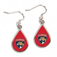 Florida Panthers Earrings Round Style - Special Order