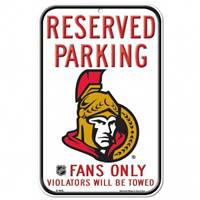 Ottawa Senators Sign 11x17 Plastic Reserved Parking Style - Special Order