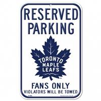 Toronto Maple Leafs Sign 11x17 Plastic Reserved Parking Style