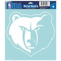 Memphis Grizzlies Decal 8x8 Perfect Cut White - Special Order