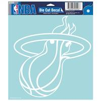 Miami Heat Decal 8x8 Die Cut White