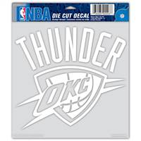 Oklahoma City Thunder Decal 8x8 Die Cut White