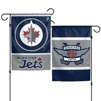 Winnipeg Jets Flag 12x18 Garden Style 2 Sided - Special Order