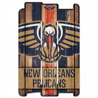 New Orleans Pelicans Sign 11x17 Wood Fence Style - Special Order