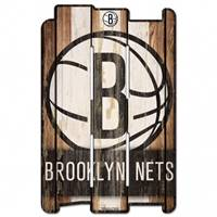 Brooklyn Nets Sign 11x17 Wood Fence Style - Special Order