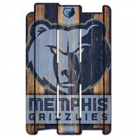 Memphis Grizzlies Sign 11x17 Wood Fence Style - Special Order