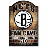 Brooklyn Nets Sign 11x17 Wood Fan Cave Design - Special Order