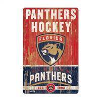 Florida Panthers Sign 11x17 Wood Slogan Design - Special Order