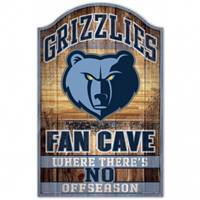 Memphis Grizzlies Sign 11x17 Wood Fan Cave Design - Special Order