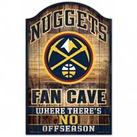 Denver Nuggets Sign 11x17 Wood Fan Cave Design - Special Order