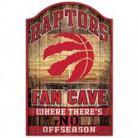 Toronto Raptors Sign 11x17 Wood Fan Cave Design - Special Order