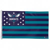 Charlotte Hornets Flag 3x5 Deluxe Style Stars and Stripes Design - Special Order