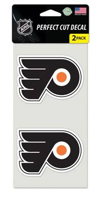 Philadelphia Flyers Set of 2 Die Cut Decals
