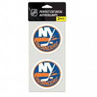 New York Islanders Decal 4x4 Perfect Cut Set of 2