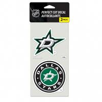 Dallas Stars Decal 4x4 Perfect Cut Set of 2