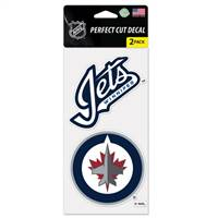 Winnipeg Jets Decal 4x4 Perfect Cut Set of 2