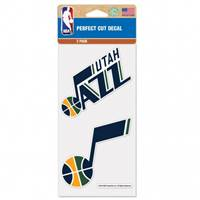 Utah Jazz Decal 4x4 Perfect Cut Set of 2