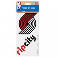 Portland Trail Blazers Decal 4x4 Perfect Cut Set of 2