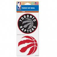 Toronto Raptors Decal 4x4 Perfect Cut Set of 2