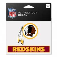 Washington Redskins Decal 4.5x5.75 Perfect Cut Color