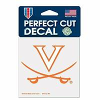 Virginia Cavaliers Decal 4x4 Perfect Cut Color