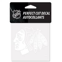 Chicago Blackhawks Decal 4x4 Perfect Cut White