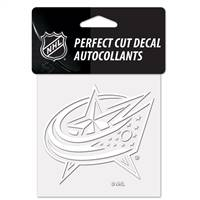 Columbus Blue Jackets Decal 4x4 Perfect Cut White - Special Order