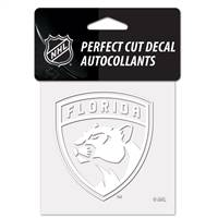 Florida Panthers Decal 4x4 Perfect Cut White - Special Order
