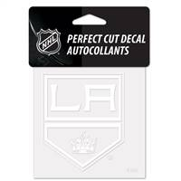 Los Angeles Kings Decal 4x4 Perfect Cut White