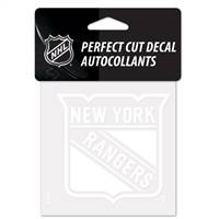 New York Rangers Decal 4x4 Perfect Cut White