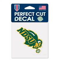 North Dakota State Bison Decal 4x4 Perfect Cut Color