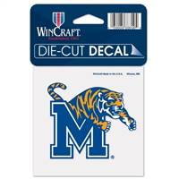 Memphis Tigers Decal 4x4 Perfect Cut Color