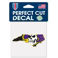 East Carolina Pirates Decal 4x4 Perfect Cut Color