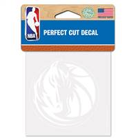 Dallas Mavericks Decal 4x4 Perfect Cut White