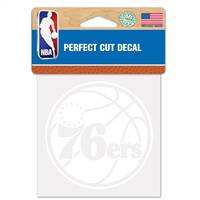 Philadelphia 76ers Decal 4x4 Perfect Cut White