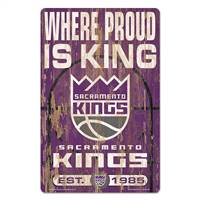 Sacramento Kings Sign 11x17 Wood Slogan Design - Special Order