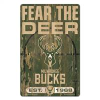 Milwaukee Bucks Sign 11x17 Wood Slogan Design - Special Order