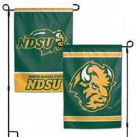 North Dakota State Bison Flag 12x18 Garden Style 2 Sided - Special Order
