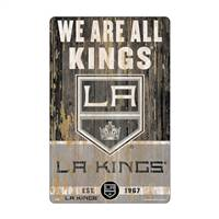 Los Angeles Kings Sign 11x17 Wood Slogan Design - Special Order