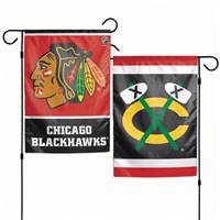 Chicago Blackhawks Flag 12x18 Garden Style 2 Sided